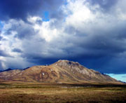 Mountain and sky, Yukon Territory